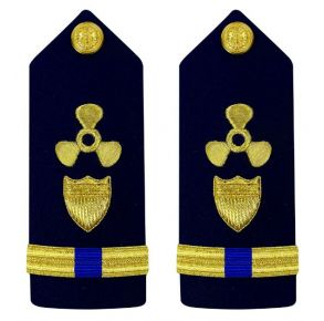 Vanguard Coast Guard Warrant Officer 4 Male Shoulder Board: Naval Engineering Front View