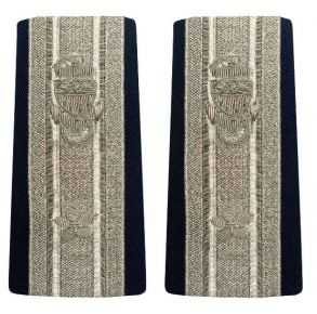 Vanguard  Coast Guard Auxiliary Male Enhanced Shoulder Board:   DCO - 1 Star Front View