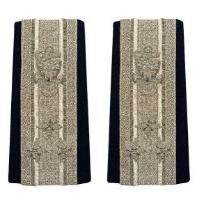 Vanguard Coast Guard Auxiliary Male Enhanced Shoulder Board:  NACO 3 Stars Front View