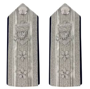 Vanguard Coast Guard Auxiliary Male Hard Shoulder Board: (RADM) NAVCO Front View