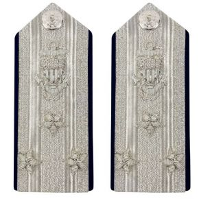 Vanguard Coast Guard Auxiliary Male Hard Shoulder Board:  (VADM) NACO Front View