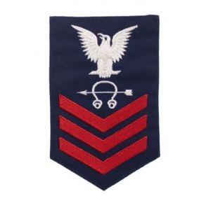 Vanguard Coast Guard E6 Rating Badge: Sonar Technician - Blue Front View