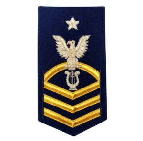 Vanguard Coast Guard E8 Rating Badge: Musician - Blue Front View