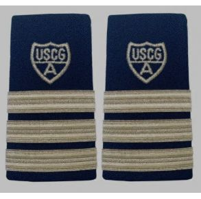 Vanguard Coast Guard Auxiliary Female Enhanced Shoulder Board: DCP Front View