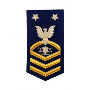 Vanguard Coast Guard E9 Rating Badge: Investigator Front View