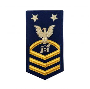 Vanguard Coast Guard E9 Rating Badge: Public Affairs Specialist (PA) Front View