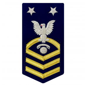 Vanguard Coast Guard E9 Rating Badge: Information Specialist (IT) Front View
