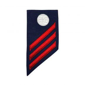 Vanguard Coast Guard E3 Rating Badge: Electricians Mate (EM) Front View
