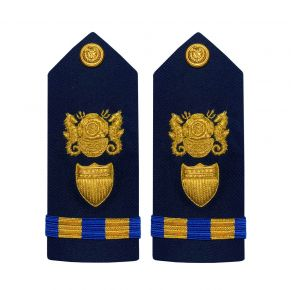 Vanguard Coast Guard Warrant Officer 2 Male Shoulder Board: Diver  Front View