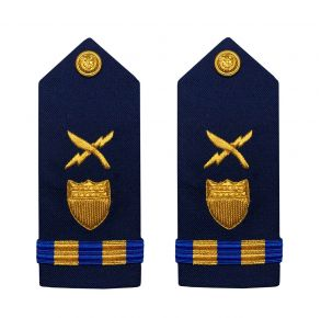 Vanguard Coast Guard Warrant Officer 2 Male Shoulder Board: Intelligence Systems Front View