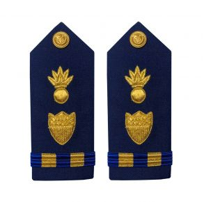 Vanguard Coast Guard Warrant Officer 2 Male Shoulder Board: Weapons Front View