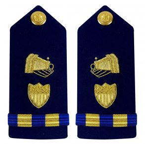 Vanguard Coast Guard Warrant Officer 2 Male Shoulder Board: Public Information Front View