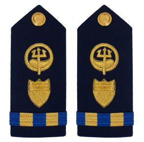 Vanguard Coast Guard Warrant Officer 2 Male Shoulder Board: Marine Safety Response Front View