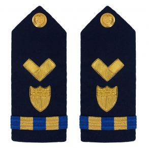 Vanguard Coast Guard Warrant Officer 2 Male Shoulder Board: Material Maintenance Front View