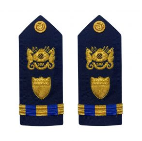 Vanguard Coast Guard Warrant Officer 3 Male Shoulder Board: Diver Front View