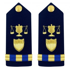 Vanguard Coast Guard Warrant Officer 3 Male Shoulder Board: Investigator Front View
