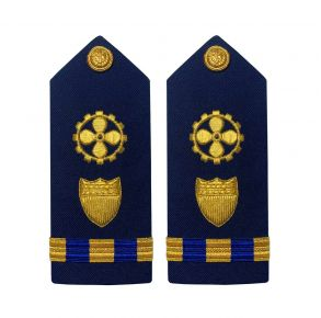 Vanguard Coast Guard Warrant Officer 3 Male Shoulder Board:  Marine Safety Engineer Front View