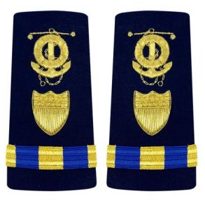 Vanguard Coast Guard Shoulder Board: Enhanced Warrant Officer 3 - Marine Safety Specialist Deck Front View