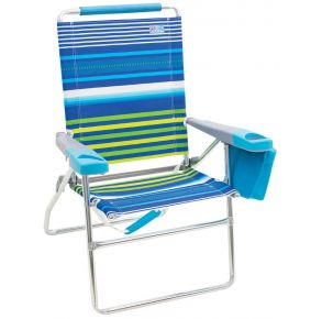 RIO Beach Beach Chair with Deluxe Arms - 17 in. Front View