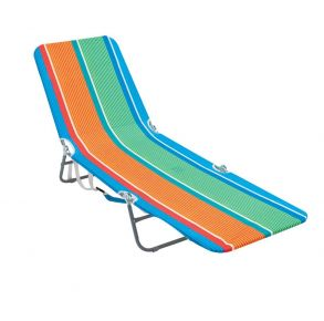 RIO Beach Backpack Multi-Position Lounge Chair - Coney Island Pinstripe Front View