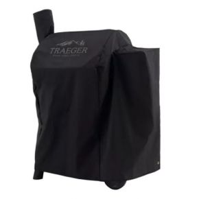 Traeger Grill Cover - Pro 575 & 22 - Full-Length - Black  Front of Cover on Grill View