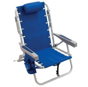 RIO Premium Lace-up Backpack Chair with Cooler Bag - 28 Ocean Blue Front View