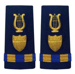Vanguard Coast Guard Warrant Officer 3 Male Enhanced Shoulder Board: Bandmaster Front View