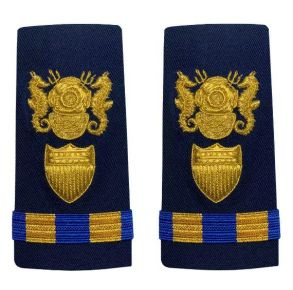 Vanguard Coast Guard Warrant Officer 2 Male Enhanced Shoulder Board: Diver Front View