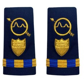 Vanguard Coast Guard Warrant Officer 3 Male Enhanced Shoulder Board: Operations System Specialist Front View