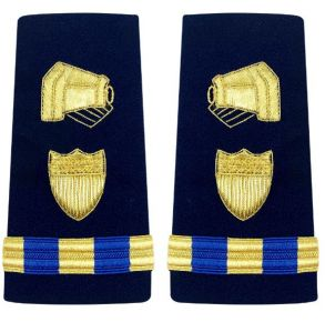 Vanguard Coast Guard Warrant Officer 3 Male Enhanced Shoulder Board: Public Information Front View