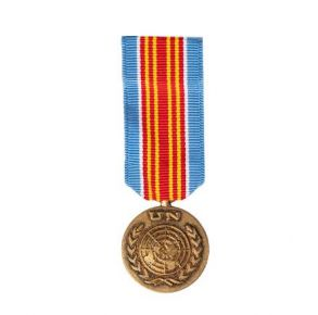 Vanguard Miniature Medal: UN Protection Force In Macedonia Front View
