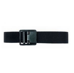 Vanguard Navy Belt and Buckle: Black Nylon Seabee Black Buckle and Tip - Size Extra Long Front View