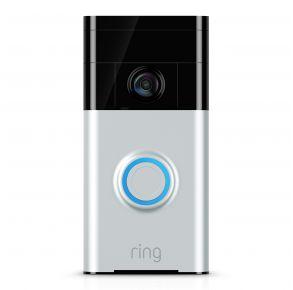 Ring Video Doorbell - Satin Nickel Front ViewRing Video Doorbell - Satin Nickel