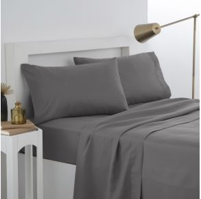 Martex Easy Living Pillowcase Pair - Standard - Gray Front View