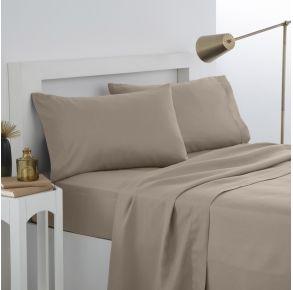 Martex Easy Living Pillowcase Pair - Standard - Khaki Front View