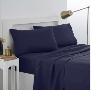 Martex Easy Living Pillowcase Pair - Standard - Navy Front View