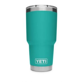 YETI Rambler 20 oz. Tumbler with Magslider Lid - Aquifer Blue Front View