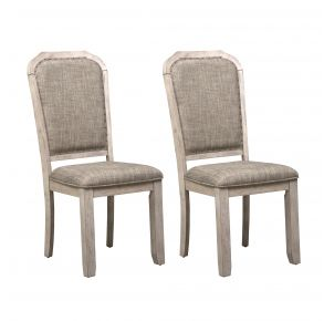 Liberty Furniture Industries, Inc. Willowrun Upholstered Side Chair - RTA - Set of 2 - White Pair Front View