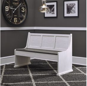 """Liberty Furniture Industries, Inc. Allyson Park 56"""" Nook Bench - White Front View"""