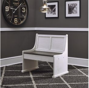 """Liberty Furniture Industries, Inc. Allyson Park 37"""" Nook Bench - White Front View"""