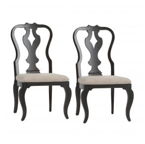 Liberty Furniture Industries, Inc. Chesapeake Splat Back Side Chair - RTA - Set of 2 - Black Pair Front View