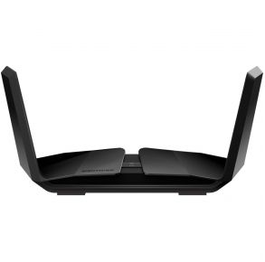 NETGEAR AX6000 WiFi Router - Black Front View