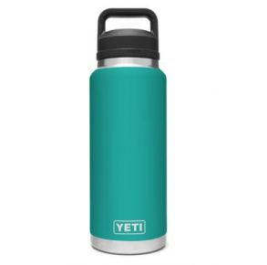 YETI Rambler 36 oz. Bottle with Chug Cap - Aquifer Blue Front View