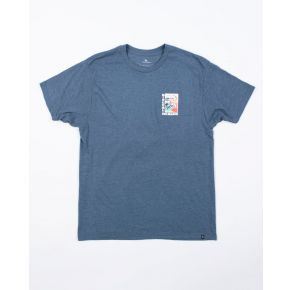 Rip Curl Mens Double Up Premium Short Sleeve T-Shirt Front View