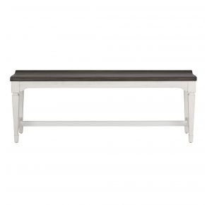 Liberty Furniture Industries, Inc. Allyson Park Wood Seat Bench - White Front View