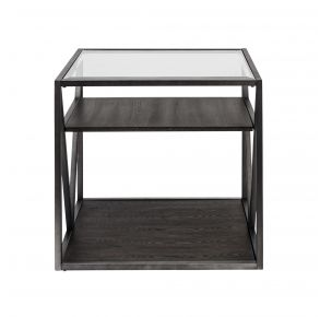 Liberty Furniture Industries, Inc. Arista End Table - Medium Gray Front View