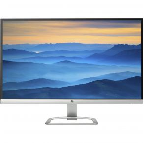 "HP 27"" 27er Monitor - Silver, White Front View"