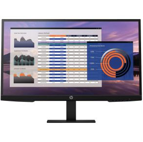 "HP 27"" P27h G4 FHD Monitor - Black Front View"
