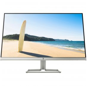 "HP 27"" 27fw with Audio Monitor - Silver, White Front View"