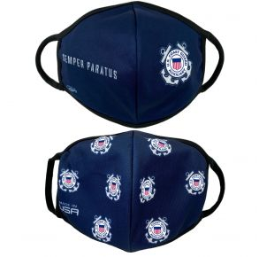 Coast Guard Auxiliary - Face Mask - Adult - 2 Pack Front View